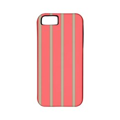 Line Red Grey Vertical Apple Iphone 5 Classic Hardshell Case (pc+silicone)
