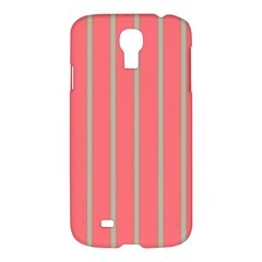 Line Red Grey Vertical Samsung Galaxy S4 I9500/i9505 Hardshell Case
