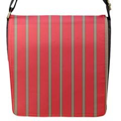 Line Red Grey Vertical Flap Messenger Bag (s)