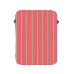 Line Red Grey Vertical Apple Ipad 2/3/4 Protective Soft Cases