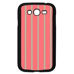 Line Red Grey Vertical Samsung Galaxy Grand Duos I9082 Case (black)