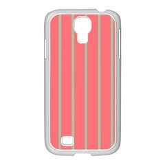 Line Red Grey Vertical Samsung Galaxy S4 I9500/ I9505 Case (white)