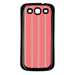 Line Red Grey Vertical Samsung Galaxy S3 Back Case (black)