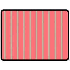 Line Red Grey Vertical Double Sided Fleece Blanket (large)