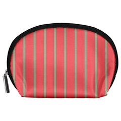 Line Red Grey Vertical Accessory Pouches (large)