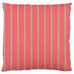 Line Red Grey Vertical Standard Flano Cushion Case (two Sides)