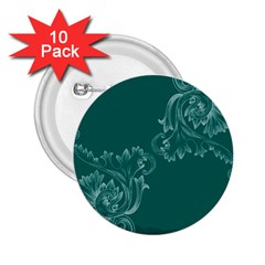 Leaf Green Blue Sexy 2 25  Buttons (10 Pack)