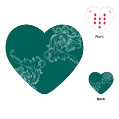 Leaf Green Blue Sexy Playing Cards (heart)