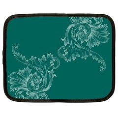 Leaf Green Blue Sexy Netbook Case (large)