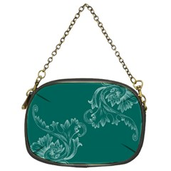 Leaf Green Blue Sexy Chain Purses (two Sides)