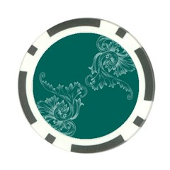 Leaf Green Blue Sexy Poker Chip Card Guard (10 Pack)