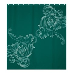 Leaf Green Blue Sexy Shower Curtain 66  X 72  (large)