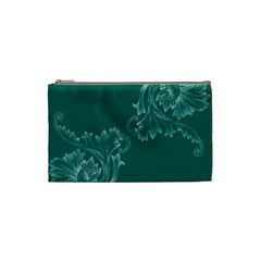 Leaf Green Blue Sexy Cosmetic Bag (small)
