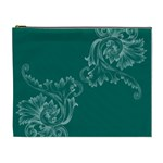 Leaf Green Blue Sexy Cosmetic Bag (XL) Front