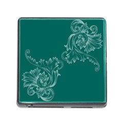Leaf Green Blue Sexy Memory Card Reader (square)