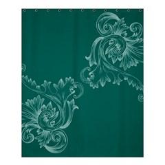 Leaf Green Blue Sexy Shower Curtain 60  X 72  (medium)