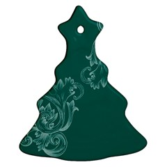Leaf Green Blue Sexy Christmas Tree Ornament (two Sides)