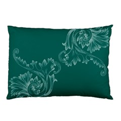 Leaf Green Blue Sexy Pillow Case (two Sides)