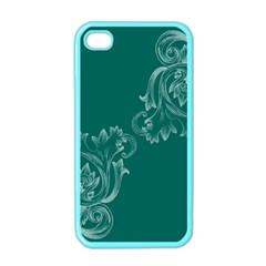 Leaf Green Blue Sexy Apple Iphone 4 Case (color)