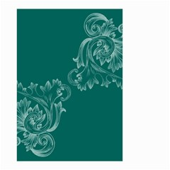 Leaf Green Blue Sexy Small Garden Flag (two Sides)