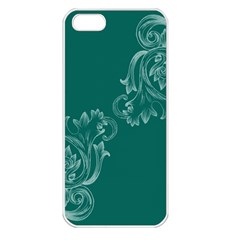 Leaf Green Blue Sexy Apple Iphone 5 Seamless Case (white)