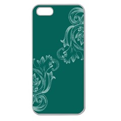 Leaf Green Blue Sexy Apple Seamless Iphone 5 Case (clear)