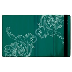 Leaf Green Blue Sexy Apple Ipad 2 Flip Case