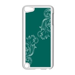 Leaf Green Blue Sexy Apple Ipod Touch 5 Case (white)