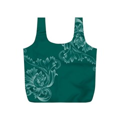 Leaf Green Blue Sexy Full Print Recycle Bags (s)