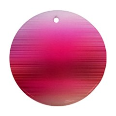 Line Pink Space Sexy Rainbow Ornament (round)