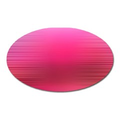 Line Pink Space Sexy Rainbow Oval Magnet