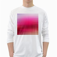 Line Pink Space Sexy Rainbow White Long Sleeve T Shirts