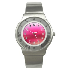 Line Pink Space Sexy Rainbow Stainless Steel Watch
