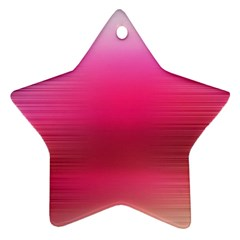Line Pink Space Sexy Rainbow Star Ornament (two Sides)