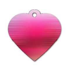 Line Pink Space Sexy Rainbow Dog Tag Heart (one Side)