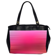 Line Pink Space Sexy Rainbow Office Handbags (2 Sides)