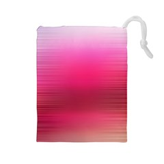 Line Pink Space Sexy Rainbow Drawstring Pouches (large)