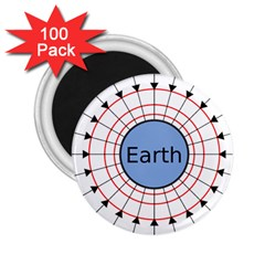 Magnetik Earth s Gravitational Line Triangle 2 25  Magnets (100 Pack)