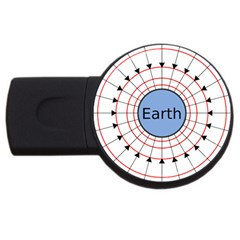 Magnetik Earth s Gravitational Line Triangle Usb Flash Drive Round (2 Gb)