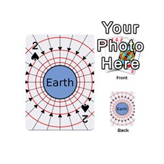 Magnetik Earth s Gravitational Line Triangle Playing Cards 54 (mini)