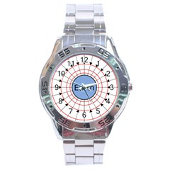 Magnetik Earth s Gravitational Line Triangle Stainless Steel Analogue Watch