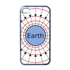 Magnetik Earth s Gravitational Line Triangle Apple Iphone 4 Case (black)