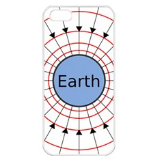 Magnetik Earth s Gravitational Line Triangle Apple Iphone 5 Seamless Case (white)