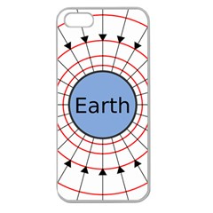 Magnetik Earth s Gravitational Line Triangle Apple Seamless Iphone 5 Case (clear)