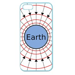 Magnetik Earth s Gravitational Line Triangle Apple Seamless Iphone 5 Case (color)