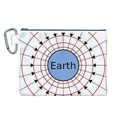 Magnetik Earth s Gravitational Line Triangle Canvas Cosmetic Bag (l)