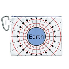 Magnetik Earth s Gravitational Line Triangle Canvas Cosmetic Bag (xl)