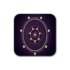 Mandalarium Hires Hand Eye Purple Rubber Coaster (square)