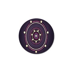 Mandalarium Hires Hand Eye Purple Golf Ball Marker
