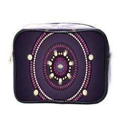 Mandalarium Hires Hand Eye Purple Mini Toiletries Bags